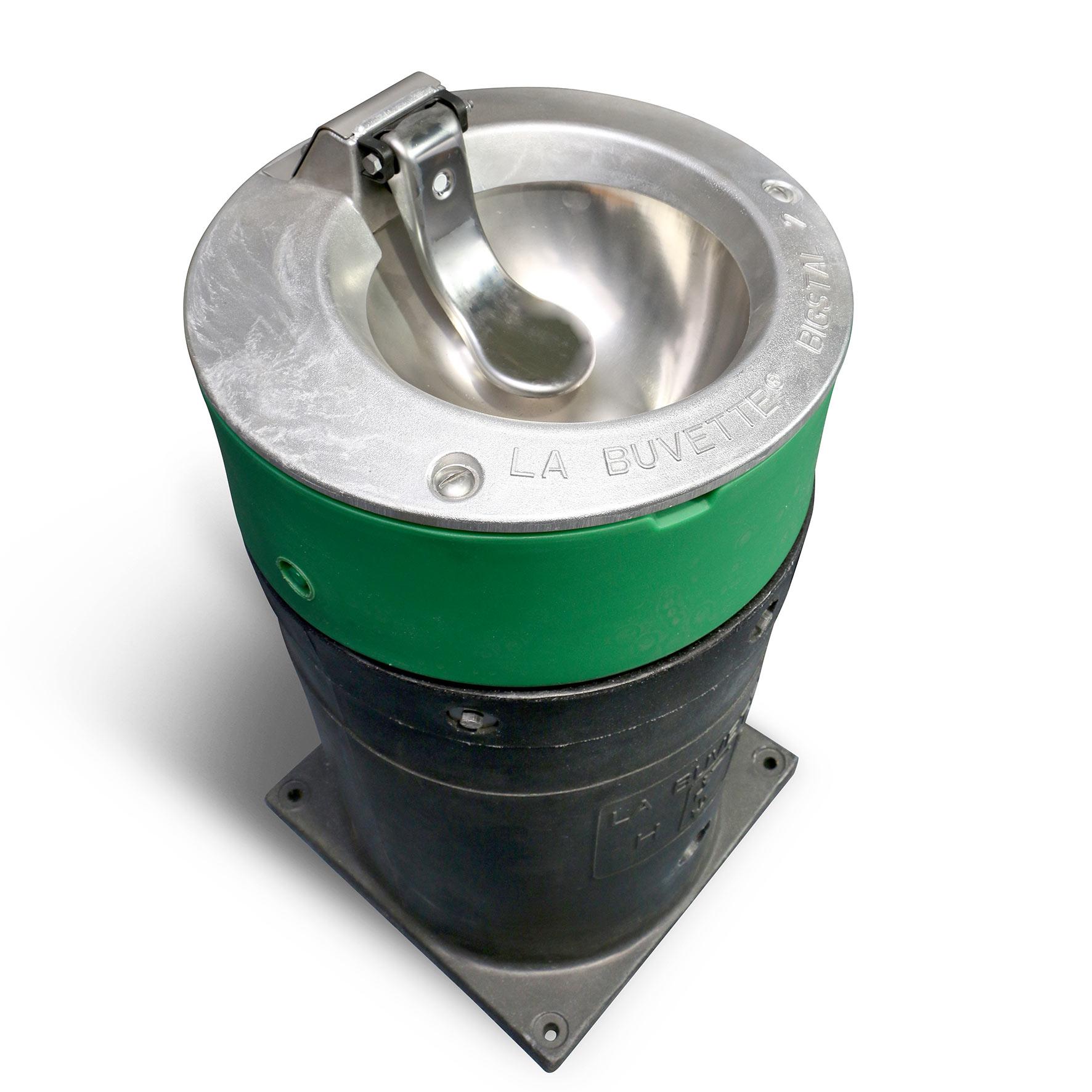 Abreuvoir palette inox à poser sur buse BIGSTAL 2 - 80 Watts