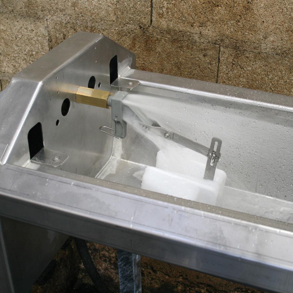 Abreuvoir inox à grande vidange GV230 pour vaches laitières