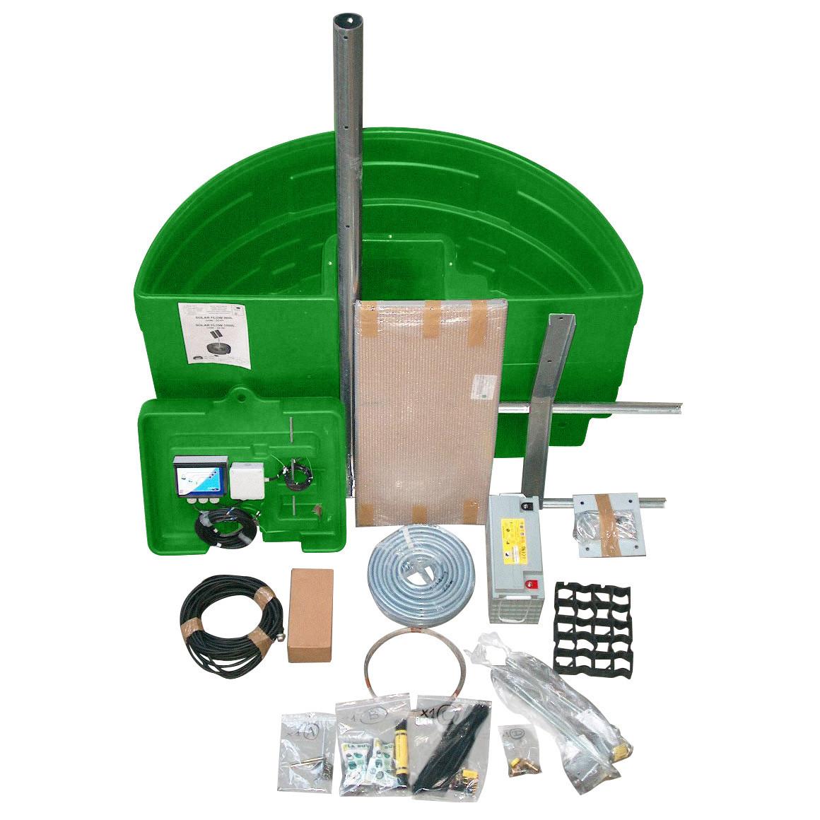 Abreuvoir à pompe solaire SOLAR-FLOW 900 L kit