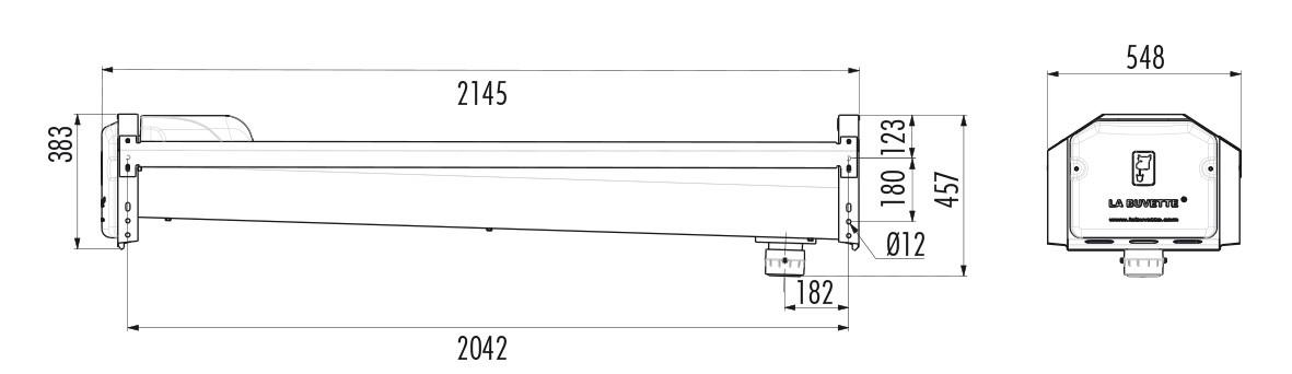 Dimensions abreuvoir GV230