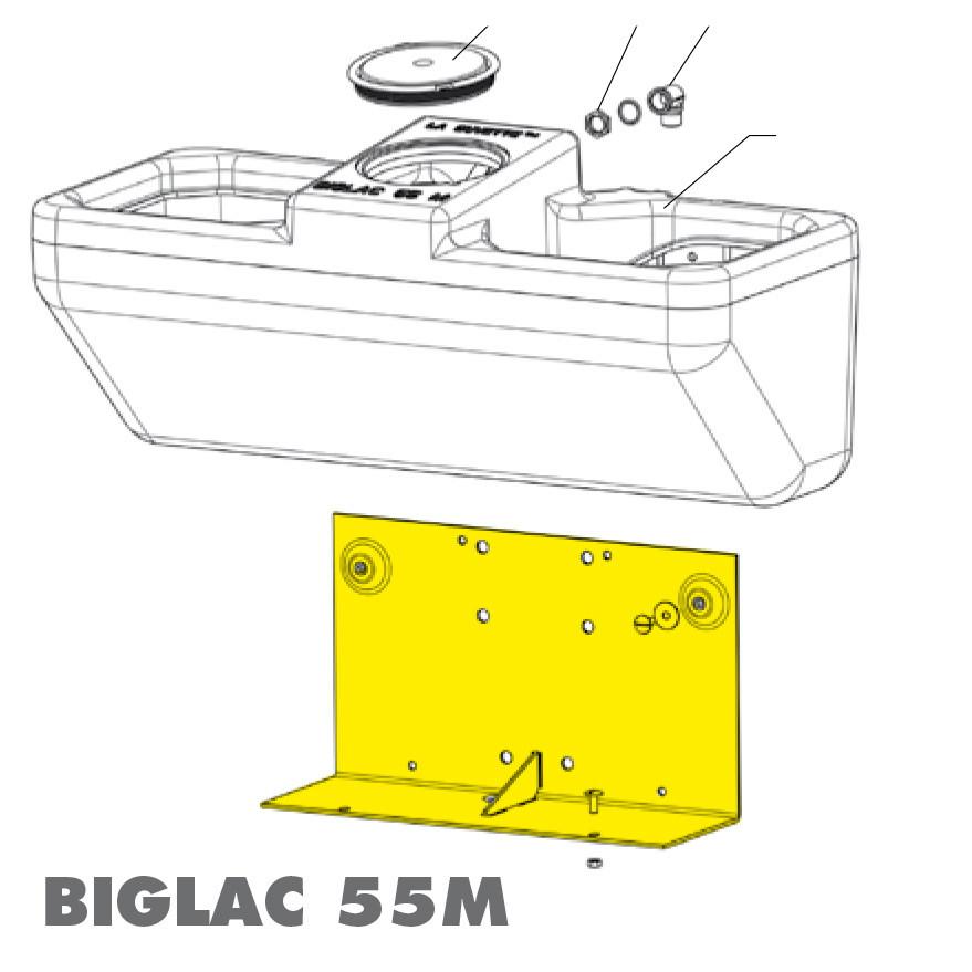 SUPPORT BIGLAC 55 MURAL GALVA (pièce de rechange)