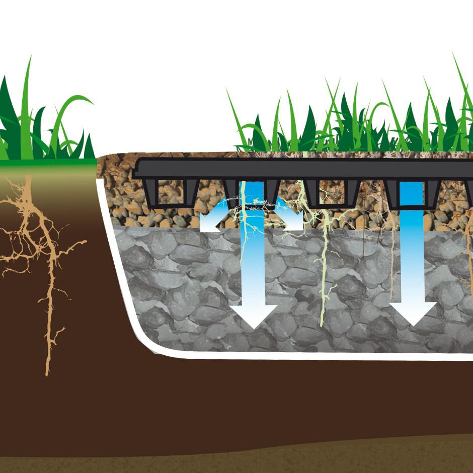 Soil stabilisation grid / Dalle de stabilisation de sol