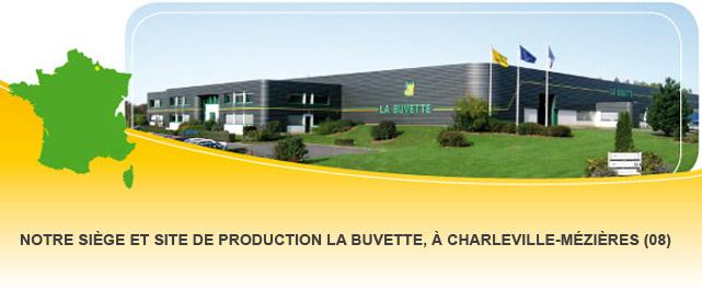 Notre siège et site de production LA BUVETTE, à CHARLEVILLE-MÉZIÈRES (08)